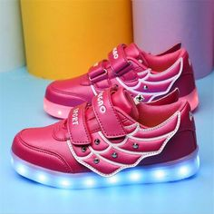 76f790c922975 Children Shoes With Led Kids Light Up Shoes Chaussure Lumineuse Enfant USB  Charging Light Up Sneakers