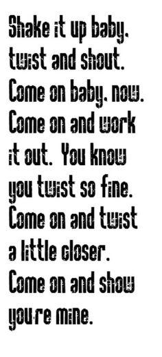 Isley Brother's - Twist & Shout - song lyrics, music lyrics, song quotes, music quotes, songs