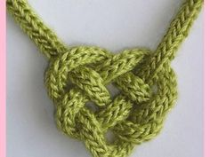 Celtic Heart Knot - - A maddycraft project pattern that combines knitting and knotting. With a few twists and turns, I-Cord becomes a Celtic Heart Knot . Yarn Projects, Knitting Projects, Crochet Projects, Knitting Patterns, Crochet Patterns, Zentangle Patterns, Knit Or Crochet, Crochet Crafts, Yarn Crafts