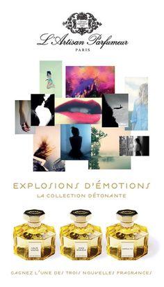 Pinez la photo pour tenter de gagner l'une des trois fragrances de la nouvelle collection détonante de L'Artisan Parfumeur