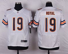 Nike Chicago Bears  19 Eddie Royal White Elite Jersey 362fdb46f