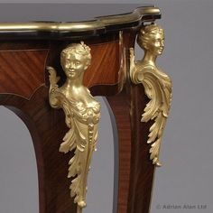 A Fine Louis XV Style Gilt-Bronze Mounted Console Table