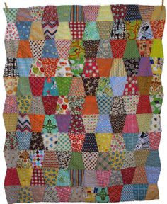 this is a good quilt for all my mismatched fabric scraps.