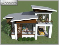 If you like uniquely designed houses, this modern two storey house plan is for you. This modern styled ho If you like uniquely designed houses, this modern two storey house plan is for you. This modern styled house is designed for medium to large families 3 Storey House Design, Wood House Design, Small House Design, Modern House Design, Modern House Floor Plans, Modern Bungalow House, New House Plans, Model House Plan, House Plan With Loft