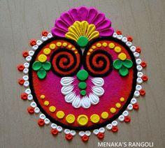 Festival Rangoli, Latest Rangoli, Rangoli Colours, Decoration For Ganpati, Free Hand Rangoli Design, Oddly Satisfying Videos, Beautiful Rangoli Designs, Simple Rangoli, Simple Colors