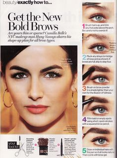 The perfect glam eyebrows. Think Audrey Hepburn. -- Tutorial - March 02 2019 at Bold Eyebrows, Full Brows, Permanent Eyebrows, Male Makeup, Eyebrow Makeup, Beauty Makeup, Makeup Eyebrows, Diy Makeup, Diy Beauty