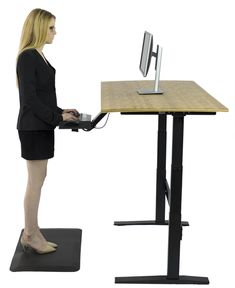 Our simple, electric, programmable, eco friendly bamboo standing desk.  This is truly a high quality and affordable product.  Free shipping.