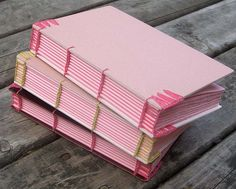 Three journals with Coptic endbands   Flickr - Photo Sharing!