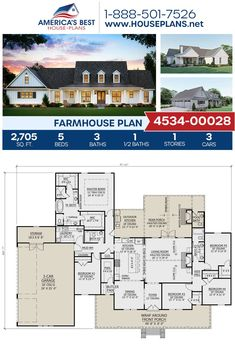 Perfect smaller house ———- small farmhouse plans with porches Open Floor House Plans, Porch House Plans, Lake House Plans, Basement House Plans, House Plans One Story, Bungalow House Plans, Craftsman Style House Plans, Best House Plans, Bedroom House Plans