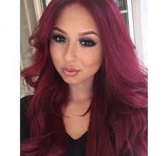 I want my hair this color so bad! Red Violet Hair, Burgundy Hair, Beauty Makeup, Hair Makeup, Bantu Knots, Ethnic Hairstyles, About Hair, Makeup Looks, Braids