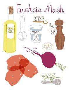 I love Claudia's recipe prints.  Best of all, the recipes actually work!  From etsy seller claudiagpearson