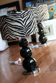 zebra lamp  very cute