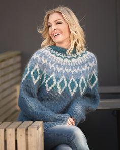 Genser Tia   Knittingroom Vikings, Icelandic Sweaters, Baby Alpaca, Hand Knitting, Tweed, Crochet Patterns, Turtle Neck, Unique, Womens Fashion