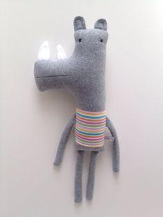 Plush Rhino Friend Finkelstein's Center Handmade by finkelsteins