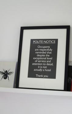 Amabyss - Polite Notice in Black, £45.00 (http://www.amabyss.com/polite-notice-in-black/)