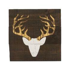 Distressed White Deer Head Wooden Plaque | Kirklands