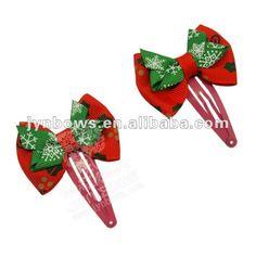 hair bow ideas | Grosgrain Christmas Hair Bows, View christmas hair bows, Jynbows ...