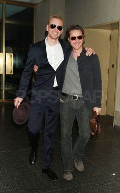 michael fassbender | James McAvoy and Michael Fassbender Michael & James