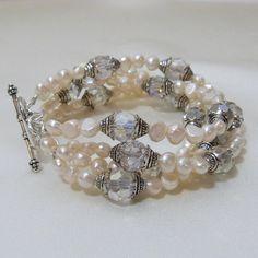 4 Strand Bridal Renaissance Pearl Bracelet by tbyrddesigns on Etsy, $49.00