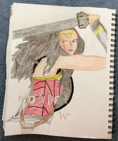 "My ""Wonder Woman"" drawling not complete yet!I hope you like it❤️"