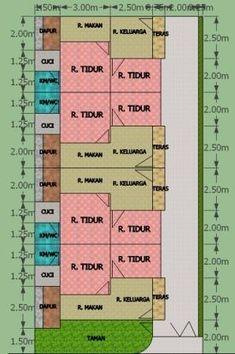 aslm.wr.wb..ustadz andan saya rencana mau bangun rumah kontrakan/petakan 4 petak atau 4 pintu di atas tanah ukuran 10 x 20 m2. nah gmana kisaran biaya yang diperlukan (perkiraan biaya daerah samarinda) dan kami mohon agar bisa di buatkan gambar desain yang bagus dengan konsep kenyamanan di dalam setiap ruang. trima kasih ustad andan Home Design Plans, Plan Design, Guest House Plans, 20 M2, Boarding House, Apartment Floor Plans, Interior And Exterior, Interior Design, Simple House