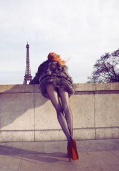 Red Heels, Hot Legs, Eiffel Tower, Paris