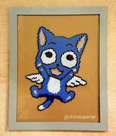 Happy Fairy Tail perler beads by christoperler