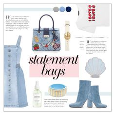 """""""PLAY IN DENIM"""" by sodapopcandy ❤ liked on Polyvore featuring AlexaChung, STELLA McCARTNEY, Gianvito Rossi, Burberry, Sugar Thrillz, Gucci, denimtrend, statementbags and denimoutfits"""