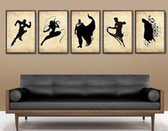 OIL PAINTING MODERN WALL DECOR ART CANVAS 5P Superhero (No frame) in Art, Direct from the Artist, Paintings   eBay