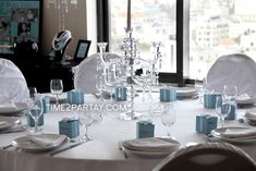 Tiffany Inspired Bridal Shower guest table