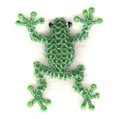 3D Beaded Tree Frog Pattern | Bead-Patterns.com