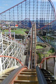 Big Dipper roller coaster at Blackpool Pleasure Beach