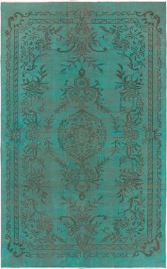 "Hand-knotted Color Transition Teal Wool Rug 5'9"" x 9'2"" - Emmanuel Torabi Home - $845.00 - domino.com"