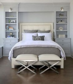 King Size Bed In Small Bedroom . 32 King Size Bed In Small Bedroom . Small Master Bedroom Design Ideas Tips and S Bedroom Built Ins, Small Master Bedroom, Master Bedroom Design, Home Bedroom, Bedroom Furniture, Bedroom Decor, Bedroom Storage, Master Bedrooms, Bedroom Designs