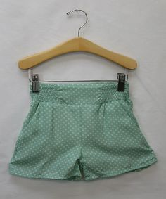 Look what I found on #zulily! Mint Polka Dot Dress Shorts - Toddler & Girls by Sweet Charlotte #zulilyfinds