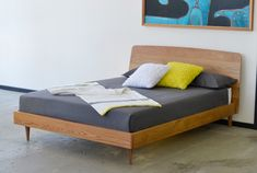 Copen Bed danish bed in american Oak   The Natural Room