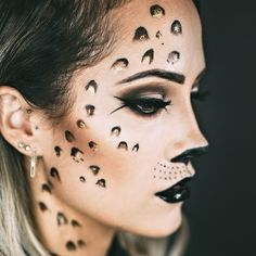 a wearable leopard look for halloween!