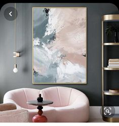 Pink Painting, Oil Painting Abstract, Abstract Wall Art, Diy Canvas Art, My New Room, Minimalist Art, Painting Inspiration, Home Art, Wall Art Decor