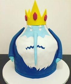 Ice King looking icy.