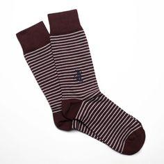"Red/Grey The ""Stripes"" Socks by prvke. Be bold."