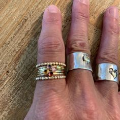 Birthstone Stacking Ring Gemstone Ring Mothers Ring Gold | Etsy Birthstone Stacking Rings, Multiple Rings, Mother Rings, London Blue Topaz, Pink Tourmaline, Blue Sapphire, Band Rings, Birthstones, Natural Gemstones
