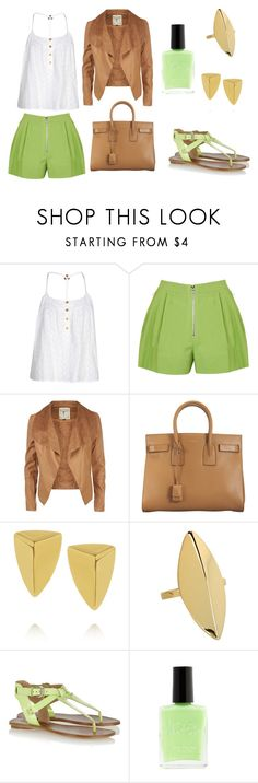 Casual by martacrfr on Polyvore featuring Boohoo, 3.1 Phillip Lim, belle by Sigerson Morrison, Yves Saint Laurent, Maiyet, Gorjana and Charlotte Russe