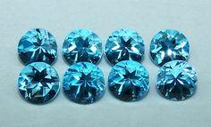 Masterpiece Calibrated 5 mm Round Cut Swiss Blue Topaz 100 % Natural IF/VVS Loose (1 Pcs) Gemstone Per Order