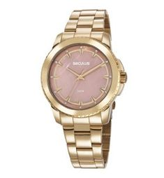 e1d3fc9ef8f Acessórios femininos. Relógio seculus feminino dourado 20613lpsvds1 fashion