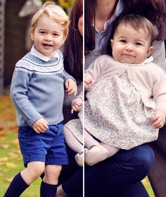 Prince George and Princess Charlotte of Cambridge, taken in Oct. 2015 at Kensington Palace, London, England, UK