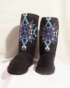 size 8 REZ HOOFZ Native AmericanLakota Handpainted by Rezhoofz, $89.50