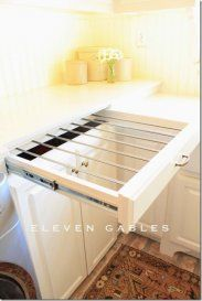 LAUNDRY ROOM : DRYING RACK DRAWER ( Drying Rack Ideas For Laundry Room #4)