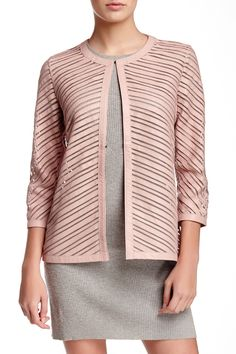 Mesh Chevron Genuine Leather Jacket by Grayse on  HauteLook 48178eb303f