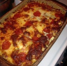 Mrs. Herrera Mom: Trim Healthy Mama Pizza Casserole