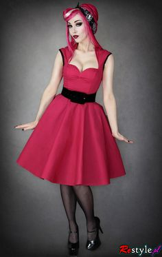 Rockabilly bridesmaid dresses.